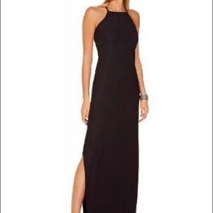 Boston Proper High Neck Maxi Dress Size XS Black